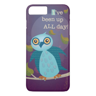 Wide-Eyed Owl in Moonlight iPhone 7 Plus Case