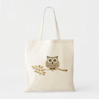 Wide Eyes Owl in Tree Bag
