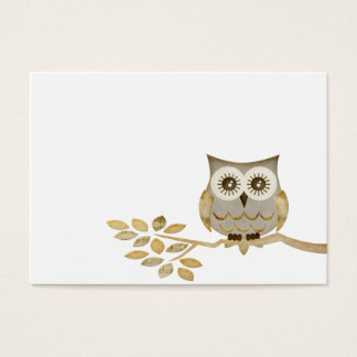 Wide Eyes Owl in Tree Business Card