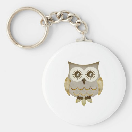 Wide Eyes Owl Key Chain