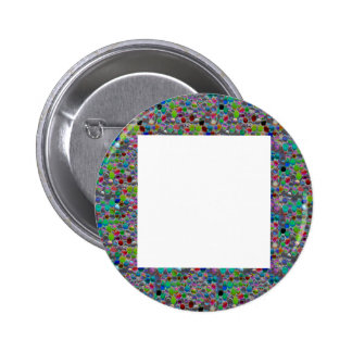 WIDE Jewel FRAME :  DIY add Text Image Customize Button