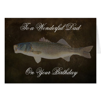 WIDE MOUTH BASS FATHERS BIRTHDAYDAY CARD