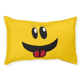 Wide Mouth Fun Face Pet Bed