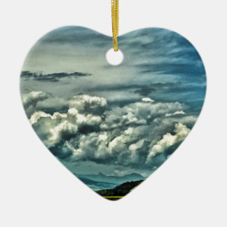 Wide Open Space Ceramic Heart Ornament