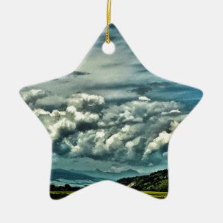 Wide Open Space Ceramic Star Ornament