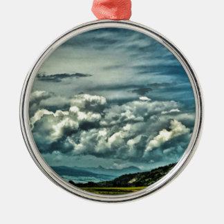 Wide Open Space Silver-Colored Round Ornament