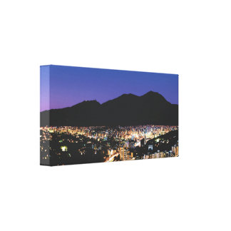 Wide panoramic night view of Caracas, Vzla Canvas Print
