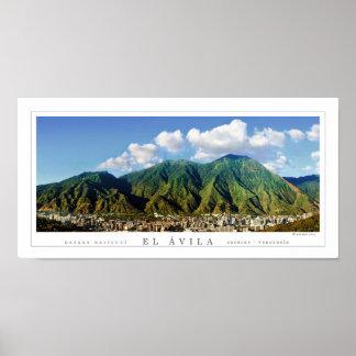 Wide panoramic poster of Avila National Park -