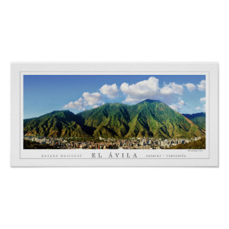 Wide panoramic poster of Avila National Park -