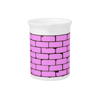 Wide Pink Wall Background Beverage Pitcher