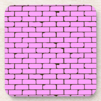 Wide Pink Wall Background Coaster