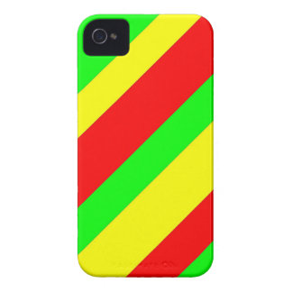 Wide Rasta Stripes iPhone 4 Case