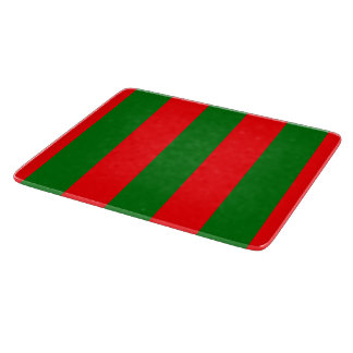 Wide Red and Green Christmas Cabana Stripes Boards