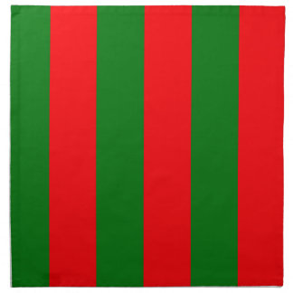 Wide Red and Green Christmas Cabana Stripes Napkin