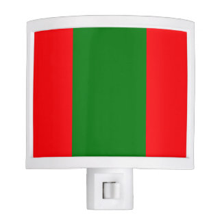 Wide Red and Green Christmas Cabana Stripes Night Lites
