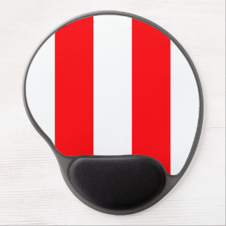 Wide Red and White Christmas Cabana Stripes Gel Mouse Pad