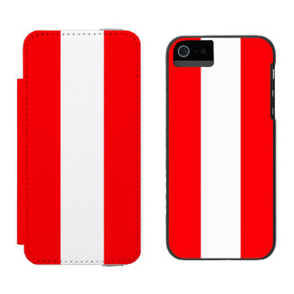 Wide Red and White Christmas Cabana Stripes Incipio Watson™ iPhone 5 Wallet Case