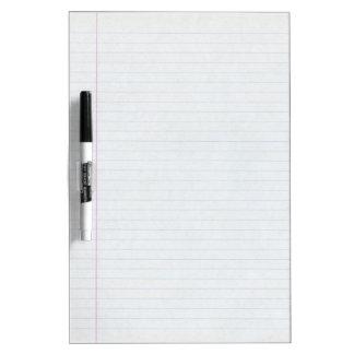 Wide Ruled Line White Board