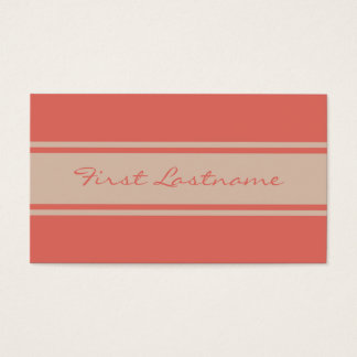 Wide Stripes custom business cards