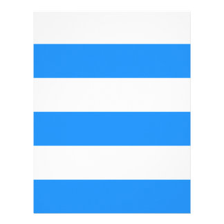 Wide Stripes - White and Blue Letterhead