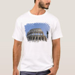 Wide view looking up at the Roman Colosseum with T-Shirt