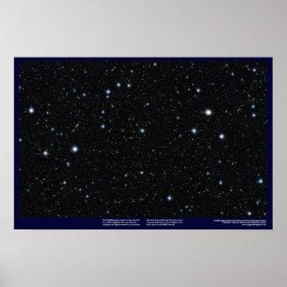 Widest, deep starfield ever, using infrared light! poster