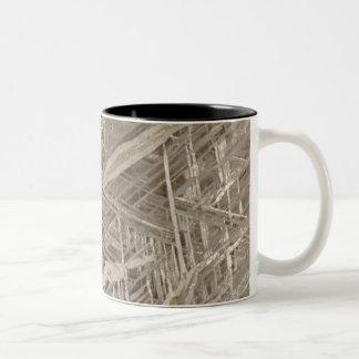 Widmanstätten pattern Two-Tone coffee mug