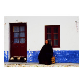 Widow, Nazarrre, Portugal Poster