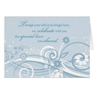 Widower Wedding Anniversary After Loss of Wife Blu Card