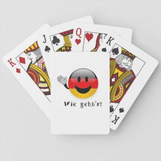 Wie geht's playing cards
