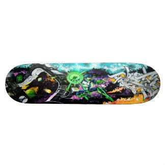 Wielder of the Emerald Powers - Streetart Sk8 Deck Skate Board Decks