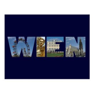 Wien Logo Vienna Austria Postcard