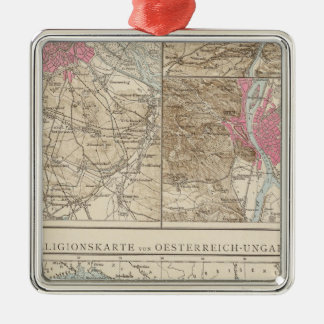Wien, Prag, BudaPest Map Metal Ornament