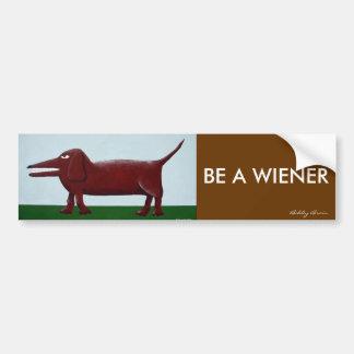 Wiener bumper sticker