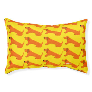 Wiener, Dachsund, Sausage Dog bed by John Dyer Small Dog Bed