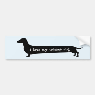 Wiener dog bumpersticker bumper sticker