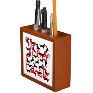 Wiener Dog Fanatic Desk Organizer