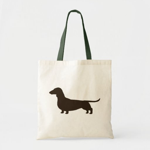 Wiener Dog Silhouette (Short Haired Dachshund) Bags