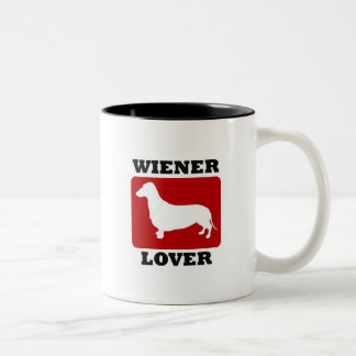 Wiener Lover Two-Tone Coffee Mug