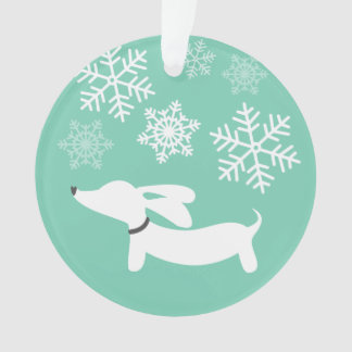 Wiener Wonderland Doxie Christmas Tree Ornament