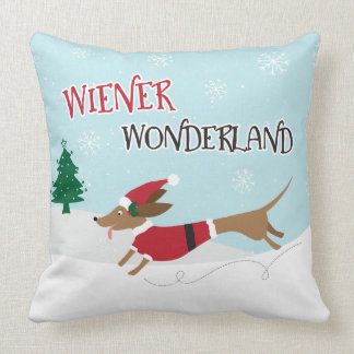 Wiener Wonderland Throw Pillow