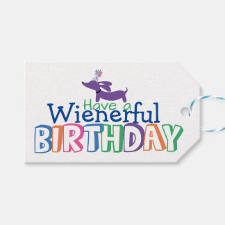 Wienerful birthday Dachshund Gift Tags Pack Of Gift Tags