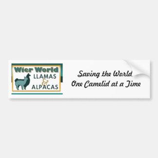 Wier World Llamas Bumper Sticker