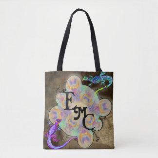 Wierd Lizard Monogram Intials Bag
