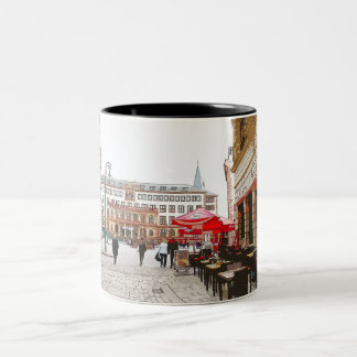 Wiesbaden, market place, city hall - Germany Two-Tone Coffee Mug