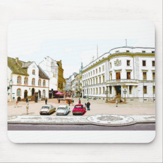 Wiesbaden, market place, Street view - Germany Mouse Pad