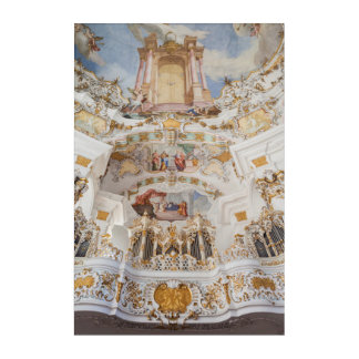 Wieskirche Church Interior Acrylic Wall Art