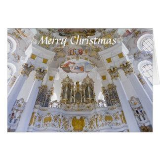 Wieskirche organ Christmas card