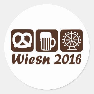 Wiesn Oktoberfest 2016 Round Sticker