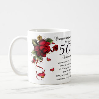 Wife 50th Birthday Gift Mug
